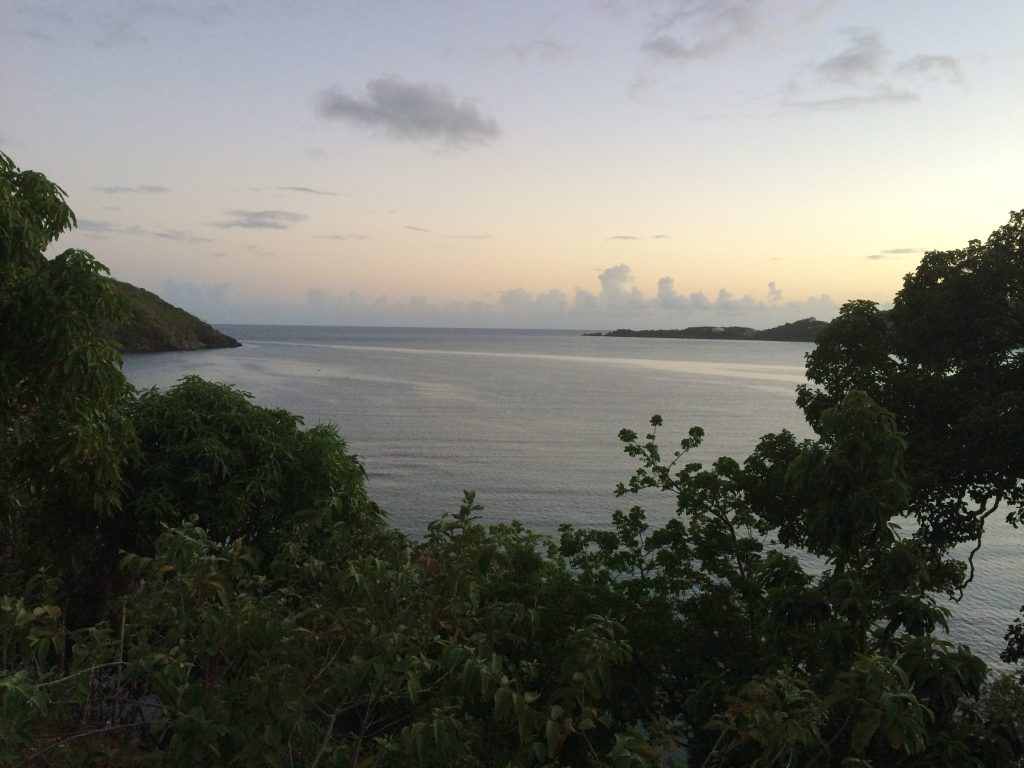 Our last morning in St. Thomas for a long time. This view is overlooking Magens Bay from our rental unit.